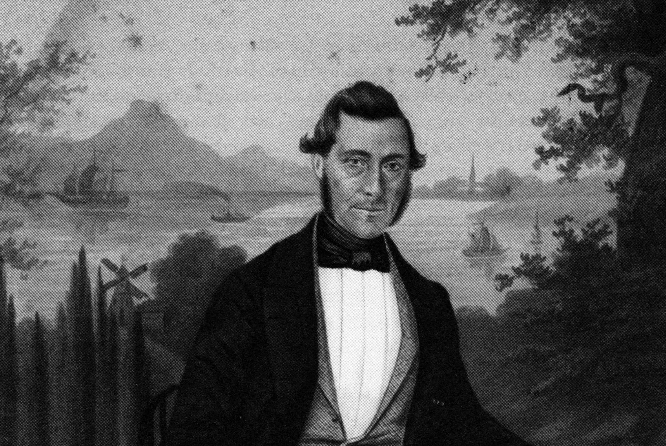 Portret Notaris Kikkert, initiatiefnemer Texelse Vuurtoren